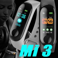 M3 Waterproof Health Activity Fitness Tracker Color Screen S...