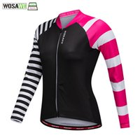 WOSAWE Female Cycling Jersey Long Sleeves Road Cycling Cloth...