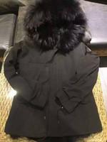 Mens Long Down Parka With Raccoon fur collar + fox fur liner...