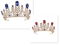 مجموعة مجوهرات الزفاف headPieces الشعبية مجموعة الكريستال maihui كبير تاج الشعر اكسسوارات الزفاف