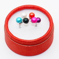 2018 s925 Pure Silver Freshwater 6 Pearls Ring setting Envío gratis