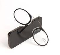 Нос Клип Магнитные Очки Для Чтения Женщины Мужчины Черный Мини SOS Очки Считыватель Кошельков С Чехлом Пресбиопические Очки