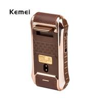 2 en 1 máquina de afeitar eléctrica recargable afeitadora eléctrica 220V barbero para hombres depilación KM-5300