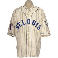 St. Louis Stars 1931 الصفحة الرئيسية جيرسي 100٪ مخيط التطريز الشعارات خمر البيسبول الفانيلة مخصص أي اسم أي رقم شحن مجاني