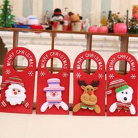 Navidad perilla de la puerta de suspensión de Santa Claus muñeco de nieve pomo de la puerta colgando de Navidad ornamento suministros decoraciones del partido de la puerta de casa