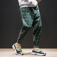 4 Farben Männer Streetwear Hip Hop Casual Plaid Hose Männliche Frauen Mode Lose Harem Hosen Paar Hose Jogger Joggnerhose