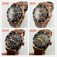 Corgeut 41mm Sapphire Glass Black Coffee Dial Stainless Stee...