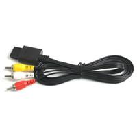 Yüksek Kalite 1.8 m 6FT AV TV RCA Video Kordon Kablo Için Oyun küp / SNES GameCube için / Nintendo N64 için 64 Oyun Kablosu