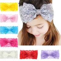 New Children Kids Headbands For Girls Babys Bow Lace Headban...