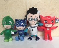 4PCS  set PJ Masks Mask Plush Toy OWLETTE GEKKO CATBOY Owlet...