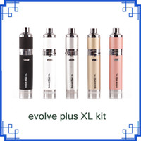 El más reciente Evolve Plus XL Kit Cera pluma con 1400mah Dab pluma vaporizador Kit de silicio tarro de batería Quad Cuarzo Caña bobina Uni