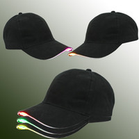 أحدث القبعات البيسبول أدى مضيئة حزب قبعة النساء الرجال الهوكي سنببك كرة السلة قبعات للجنسين الألياف البصرية قبعة قناع السياحة