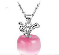 925 Sterling SilverSilver Jewelry Apple Opal Halsketten Anhänger