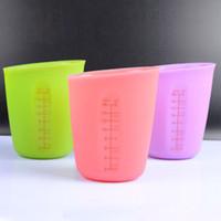 250 ملليلتر 500 ملليلتر مقاومة للحرارة سيليكون قياس أكواب أدوات المطبخ لينة أدوات قياس للخبز القهوة الشاي ZA6020