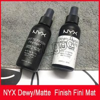 NYX Dewy Finish Fini Mat NYX Dewy Finish Fini Veloute Finitura opaca Trucco Spray Long lasting Setting Spray 60ML Face Beauty