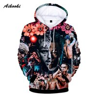Aikooki Revenge Kill Fashion 3D Hoodies Hombres / Mujeres Casual XXXTentacion Sudadera Vibes Forever Traksuit Winter 3D Pullover Coats