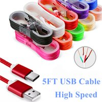 Top quality Braided Cable 1. 5M Micro USB Cable Type- C Cable ...