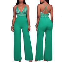 Mulheres Novo Macacão Casual Europeu e Americano Moda Sexy Macacão de Renda das Mulheres bodysuit verão 2017