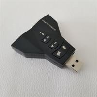Adaptateur audio de carte son externe USB 7.1 canaux à 3.5mm Aux 3D Mic / haut-parleur