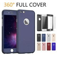 360 Degree Hard PC Back Full Cover Case with Tempered Glass ...