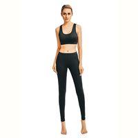 2018 nuova maglia di yoga + pantaloni, abbigliamento donna, moda europea e americana, sexy, autoreggente, traspirante e asciutto, tuta nera da donna yoga
