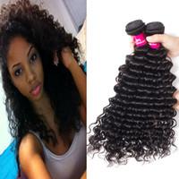 البرازيلي الشعر موجة عميقة موجة الجسم غير المجهزة عذراء لحمة الشعر البشري الجملة بيرو الماليزية الهندية الكمبودية الشعر البشري