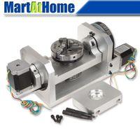 Máquina Rotativa CNC Mesa Rotativa 4º 5º Eixo Rotacional com Mandril 57 Motor de Passo 2-Fase SM839