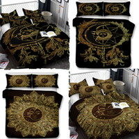 3D designer luxury bedding sets Sun and Moon Art Pattern Bed...
