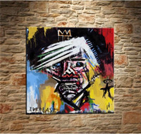 Jean Michel Basquiat Handpainted & HD Print Home Decor Abstr...