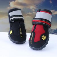 Novo Design 4 pcs À Prova D 'Água Pet Shoes Bota Ao Ar Livre Proteger Não Machucar Moda Cães Sapatos para Grandes Cães Labrador Husky Sapatos