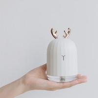 2018 nuevo lindo ciervo blanco rosa conejo humidificador de aire creativo de dibujos animados difusor USB 220 ml luz de carga difusor de aroma de escritorio