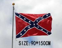 20pcs La verdad sobre las banderas confederadas de la batalla Dos lados impresos Bandera confederada Rebelde Guerra civil Bandera Bandera nacional de Estados Unidos H11b