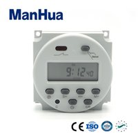 Manhua Programmable Digital Cyclic 16A 12VDC LCD Timer Switc...