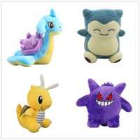 16cm Dragonite Snorlax Gengar Lapras Plush Doll Stuffed Anim...