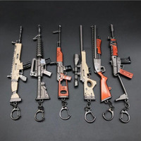 무기 k / c 17cm 총 열쇠 고리 8 스타일 망치 도끼 무기 모델 밤 펜던트 Pickaxe 괭이 장난감 키 chiain