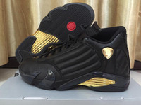14 DMP Black Golden Mens Sneakers 14s Basketball Shoes For M...