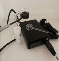 Cuarzo puro ENAIl dab kits E nail pID temperatura digital caja dabber con Ti Quartz clavos calentador de bobina para vidrio de agua bong