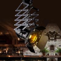Loft RH Rural Ascenseur Industriel Plafond Lampe Bar Vêtements Boutique personnalité personnalité Rétro Track Light Vintage Absorb Dôme Lumière avec E27