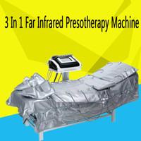 Nuovo 3 In1 Lontano infrarosso Pressoterapia EMS Elettrico Muscolo stimolazione Sauna Pressione d'aria Pressoterapia Linfodrenaggio Corpo che dimagrisce macchina