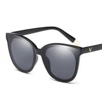 유행 편광 된 선글라스 브랜드 디자이너 고양이 눈 안경 선글라스 럭셔리 최신 태양 안경 성격 통합 된 안경 UV400