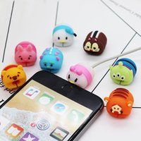 Pushingbest Cute Animal Cartoon Cable Protector Data Line fo...
