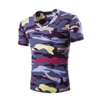 Meisai Printed Men Short T- shirt V- Neck Design Short Sleeves...