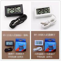 شاشة LCD ميزان الحرارة الرقمي ثلاجة ثلاجة برادات حوض السمك للدبابات درجة الحرارة -50 ~ 110C GT مع التجزئة BOX 1M كابل