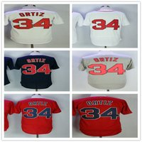 34 David Ortiz Men' s Baseball Jerseys Fashion Jersey Wh...