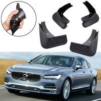 Nuevo 4 unids Car Mud Flaps Splash Guard Fender Guardabarros apto para Volvo S90 Sedan 2017 2018