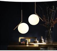 الحديث نمط زجاج الكرة قلادة مصباح غرفة المعيشة مطعم ضوء قلادة ضوء الشمال الملابس الديكور
