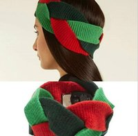 Designer wool Cross Headband Fashion Luxury Brand G Elastic ...