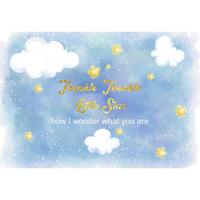 Twinkle Twinkle Little Star Sfondo personalizzato Blue Sky nuvole bianche Neonato Puntelli Foto di compleanno della ragazza sfondo