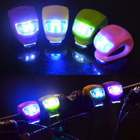 Silicone Cycling Lights Bicycle Warning Lights Lamp Bike Hea...