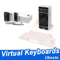 iphone için hoparlör fare sesiyle Yepyeni toptan Bluetooth klavyeleri kablosuz lazer projeksiyon klavye sanal projeksiyon klavyeler